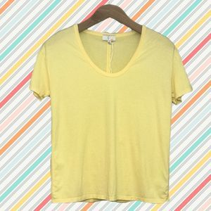 🔥3/$25 NWT AG Knit Soft Yellow Scoop Neck XS